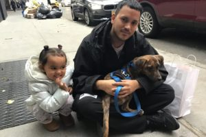 Sofia Sorrento and Bernardo Rodriguez outside the ASPCA Adoption Center