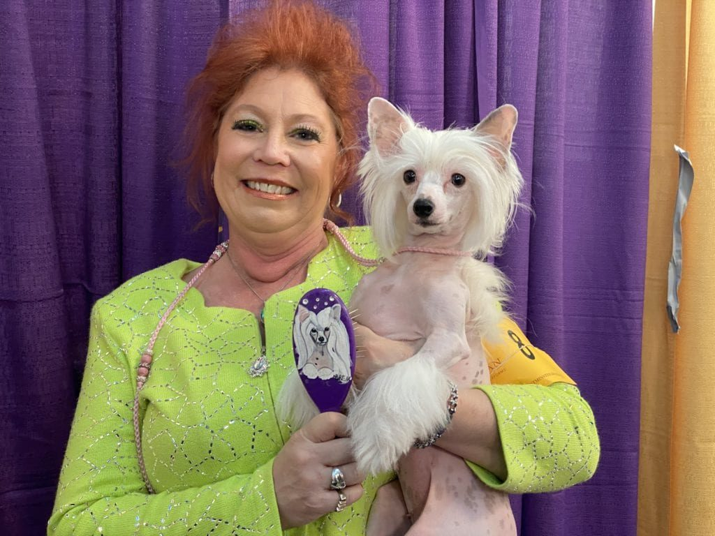 """Owner and handler Kathy with """"Jiggy"""" age 4"""