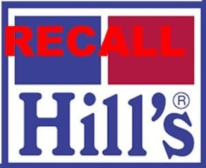 hill's science diet recall