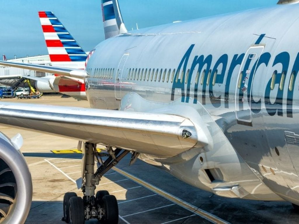 American Airlines jet on tarmac