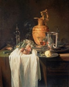 Kalf Still Life Ewer Vessels Pomegranate